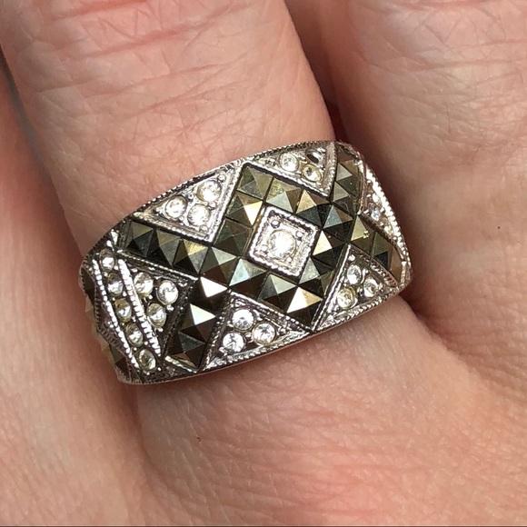 judith jack Jewelry - Judith Jack sterling/marcasite/Swarovski ring Sz 8